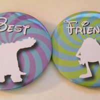 """Monsters Inc. Mike and Sulley """"Best Friends"""" Buttons"""