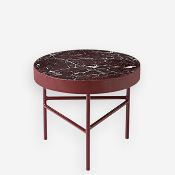Red Marble Table