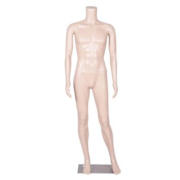 Headless Male Mannequin Plastic Realistic Display Dress Form Full Body w/ Base