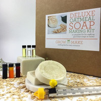 Deluxe DIY Oatmeal Soap Making Kit - Learn how to make home made soap