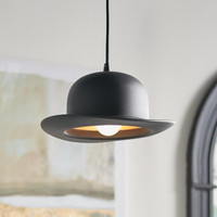 Here's Your Hat Black & Gold Pendant Light