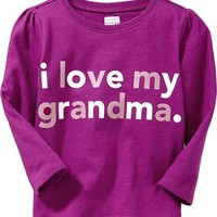 """I Love My Grandma"" Tees for Baby"