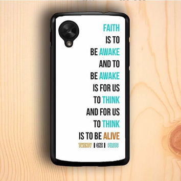 Dream colorful Twenty On Pilots Car Radio Lyrics White Cover Nexus 5 Case