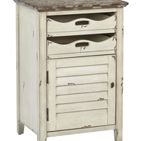OSP Designs Charlotte Chair Side Table in Country Cottage Finish, Fully Assembled