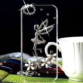 3D Bling Handmade Rhinestone Diamond Hard Shell Transparent Clear Back Case for iPhone X 4S 5 5S SE 5C 6 6SPLUS 7 8 PLUS Screen