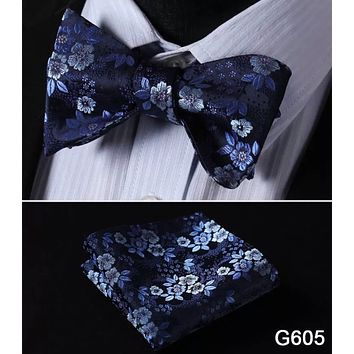 Men's Bow Tie Set - Blue Floral