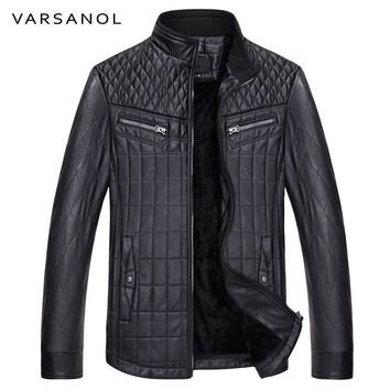 Men Jackets Leather Casual Style Thick Coat Full Sleeve Winter  Bomber Jackets Zipper Pocket Warm Tops