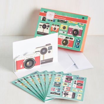 Point and Shoot the Breeze Notecard Set | Mod Retro Vintage Desk Accessories | ModCloth.com
