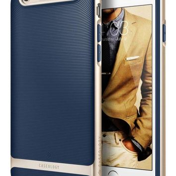 VONEXO9 iPhone 6S Plus Case, Caseology [Wavelength Series] Slim Fit Military-Grade Drop Protection [Navy Blue] for Apple iPhone 6S Plus (2015) & iPhone 6 Plus (2014)