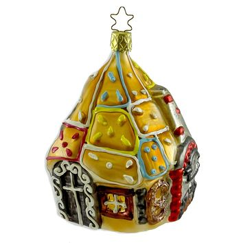 Inge Glas Wicked Witch's Gingerbread Haus Halloween Glass Ornament