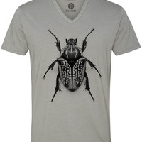 Oversize Beetle (Black) Short-Sleeve V-Neck T-Shirt