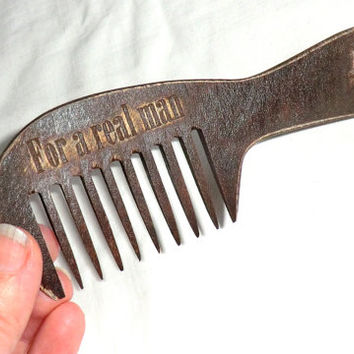 Beard comb Wooden comb Comb for beard Vintage style Wooden Gift for dad Comb wooden hair Idea for gift Dad gift