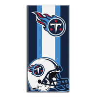 Tennessee Titans NFL Zone Read Cotton Beach Towel (30in x 60in)