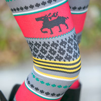Multicolor Reindeer Leggings