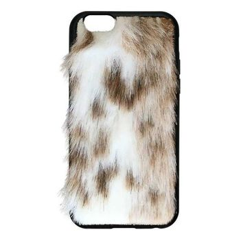 Snow Leopard Vegan Fur iPhone 6/6s Case