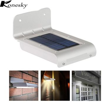 Konesky 24 LED Motion Sensor Light Waterproof Solar Powered Lamp Wall Mount Lamp Night Light for Outdoor Garden Patio Path