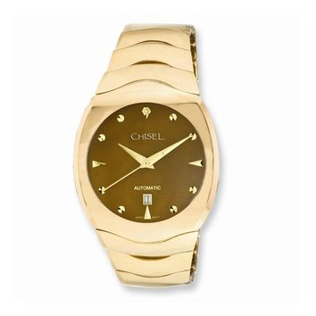 Mens Chisel Tungsten & Champagne Mother of Pearl Dial Watch
