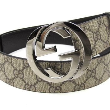 Gucci GG Supreme belt with G buckle Size 85.34