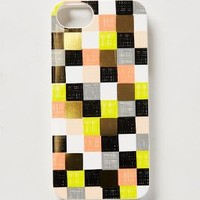 Checkered iPhone 5 Case by Rifle Paper Co. Black Motif One Size Jewelry