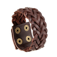 Gift New Arrival Great Deal Shiny Stylish Hot Sale Awesome Jewelry Punk Men Leather Accessory Vintage Bracelet [6526777603]