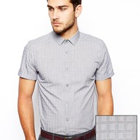 ASOS Smart Shirt In Short Sleeve With Prince Of Wales Check