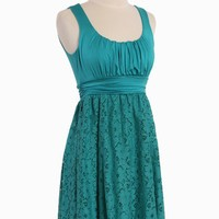 meeting before dark lace dress in teal