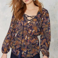 There'll Be Hell to Paisley Sheer Blouse