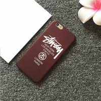 stussy Solid color Phone Case For iPhone 7 7Plus 6 6s Plus 5 5s SE