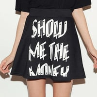 Rivet printed letters hip-hop skirt/punk skirts