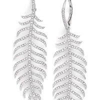 Women's Nadri Pave Drop Earrings - Silver