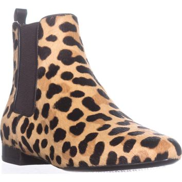 Tory Burch Orsay Bootie Ankle Boots, Leopard Print/Coconut, 7 US