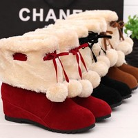 Winter Butterfly Cotton Boots [9432939146]