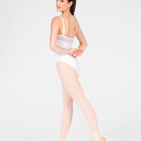 "Free Shipping - ""Flora"" Adult Sheer Panel Camisole Leotard by WEAR MOI"
