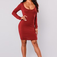 Raegen Mini Dress - Burgundy