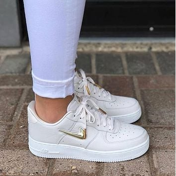 Nike Air Force 1 Low Jewel Light extravagant gold medal air force No.1 casual shoes