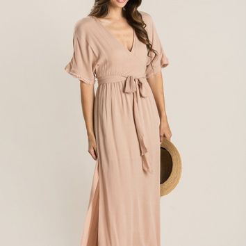 Clara Dusty Mauve Maxi Dress