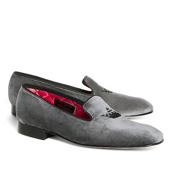 Peal & Co.® Crown Velvet Slippers - Brooks Brothers