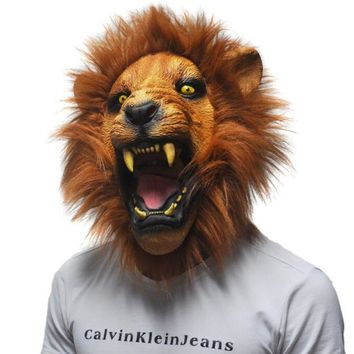 Angry Lion Animal Latex Mask - Performance & Stage Wear - Free Shipping
