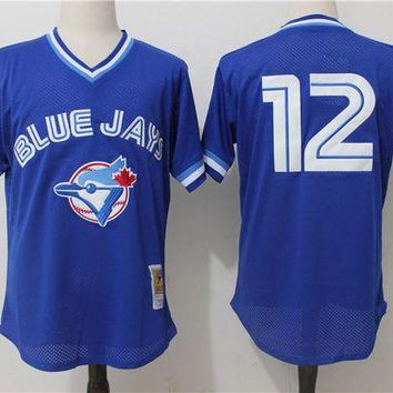 ONETOW Mitchell & Ness Roberto Alomar Toronto Blue Jays Cooperstown Collection Mesh Batting Practice Jersey - Royal Blue