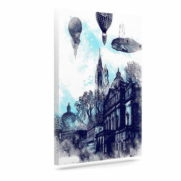 "Frederic Levy-Hadida ""Strange Town"" Blue City Canvas Art"