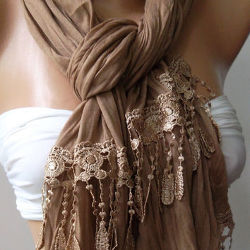 Caramel  and Elegance Shawl / Scarf