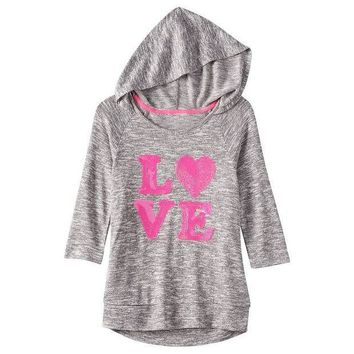 CREY7GX Miss Chievous Sequined Hooded Top - Girls