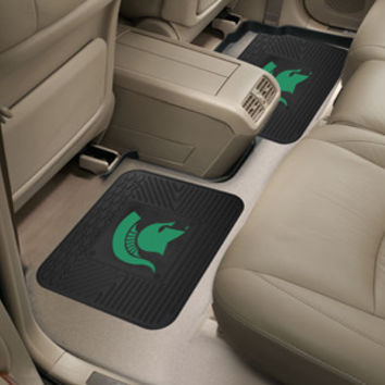 "Michigan State University  Backseat Utility Mats 2 Pack 14""x17"""