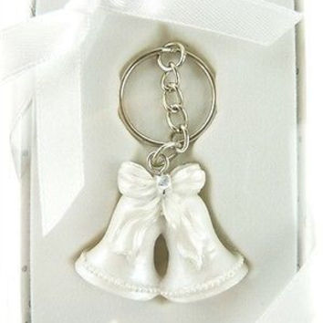 Wedding Bridal Shower Anniversary Party Favor Souvenir Gift Keepsake Ready Made, Key Chain, Bells