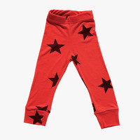 Nununu Star Leggings in Red - NU0722