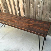 Honey colored coffee table, reclaimed wood, craft furniture, handmade,  pallet wood,