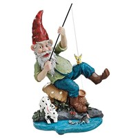 SheilaShrubs.com: Gone Fishing Garden Gnome Statue EU90673 by Design Toscano: Gnomes
