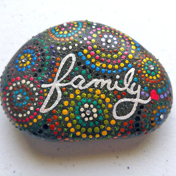 Painted Rock - Family - Typography - Garden Stones - Fairy Garden