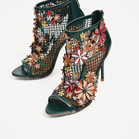FLORAL MESH SANDALS - NEW IN-WOMAN | ZARA United States