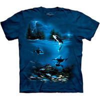 STORMY NIGHT Killer Whale Orca T-Shirt The Mountain Marine Sea Animal Art S-5XL